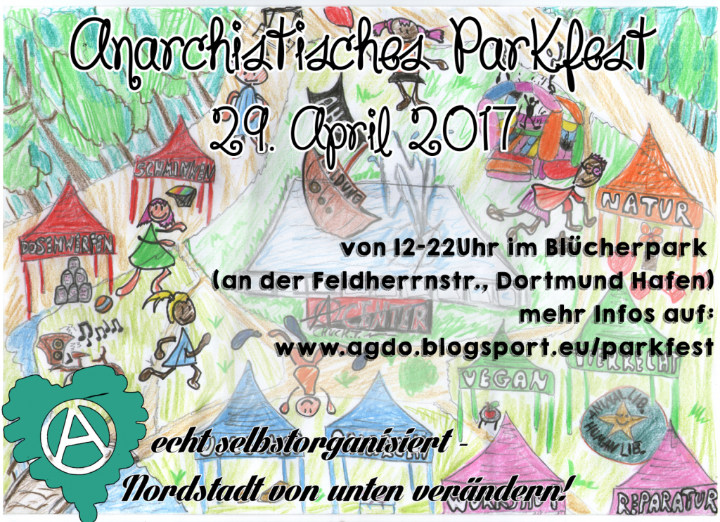 [Plakat: anarchistisches Parkfest 29. April 2017