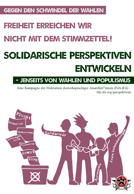 [Plakat: Solidarische Perspektiven entwickeln]