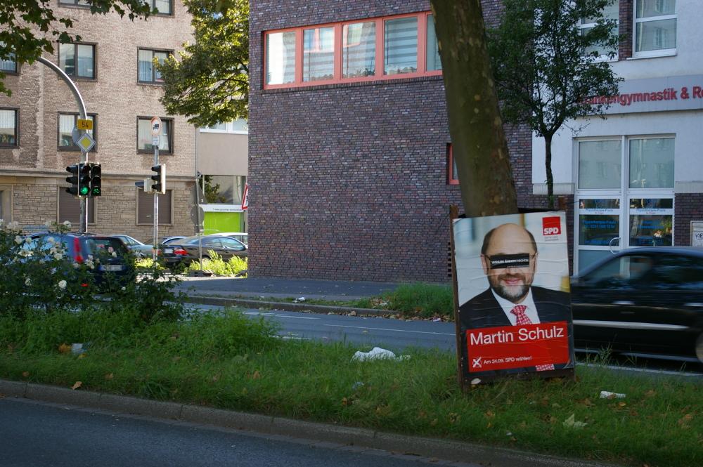 [Foto: Wahlplakat mit Martin Schulz]