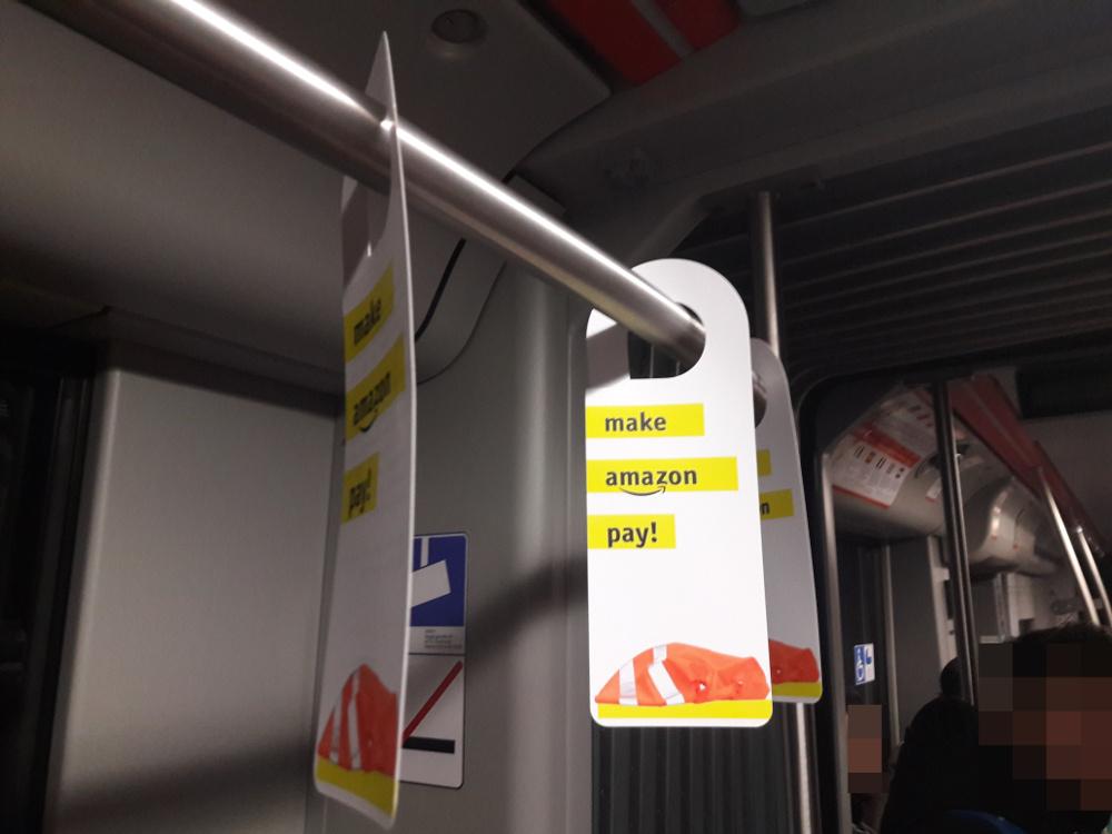 [Foto: Informationen zur Kampagne in der Dortmunder U-Bahn]